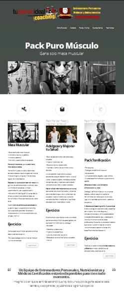 La página del Servicio