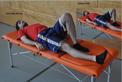 Abbucción pierna supin