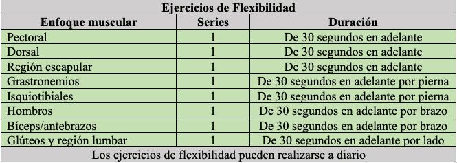 Ejercicios de flexibilidad para adultos mayores